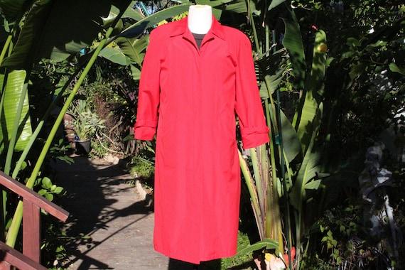Vintage 90s Red Misty Harbor Overcoat 10 (Vintage