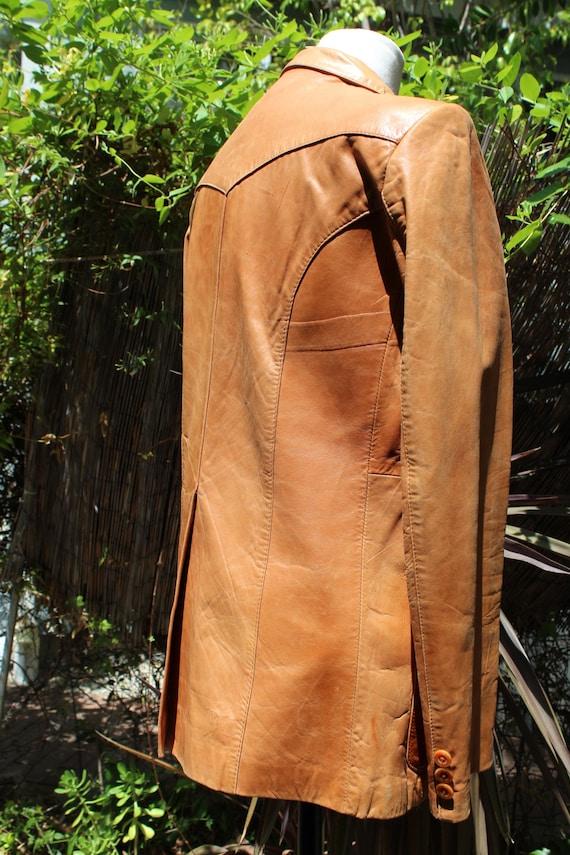Vintage Wilson's Leather 70s Burnt Orange Brown B… - image 7
