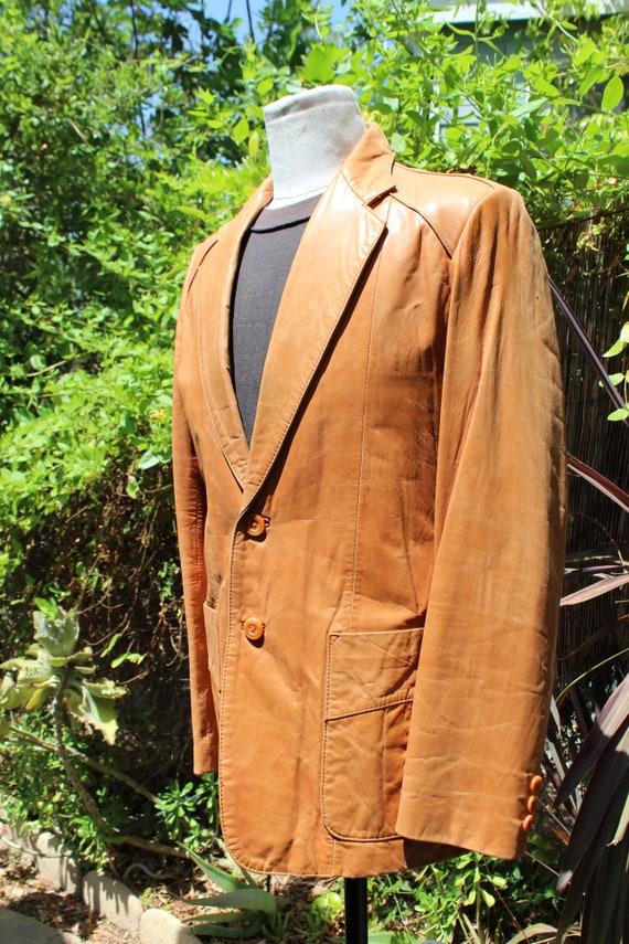 Vintage Wilson's Leather 70s Burnt Orange Brown B… - image 3