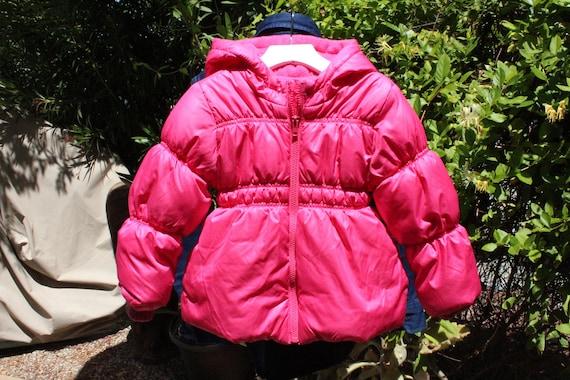 Kids Pink Winter Puffer Coat 4T (Vintage / 80s)