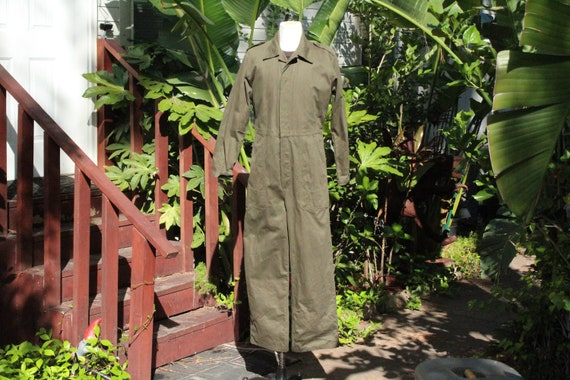 Vintage German Green Military Coveralls 52 (Vintag