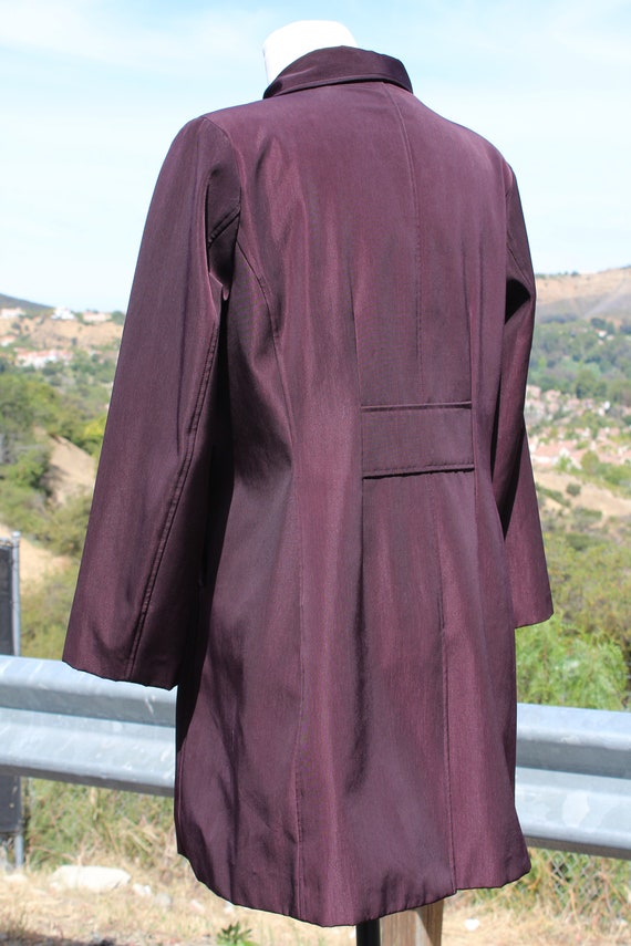 Unique Claspped Dark Red Blade Runner Overcoat Ra… - image 4