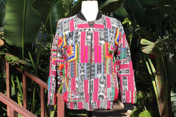80s Colorful Tapestry Cotton Insulated Bomber USA