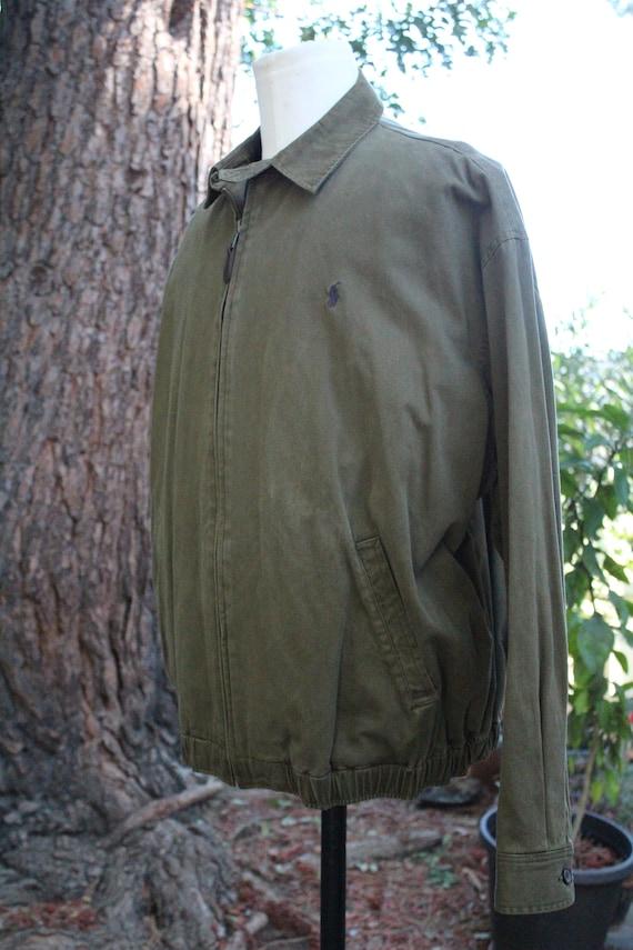 Polo Ralph Lauren Green Cotton Windbreaker (Vinta… - image 3