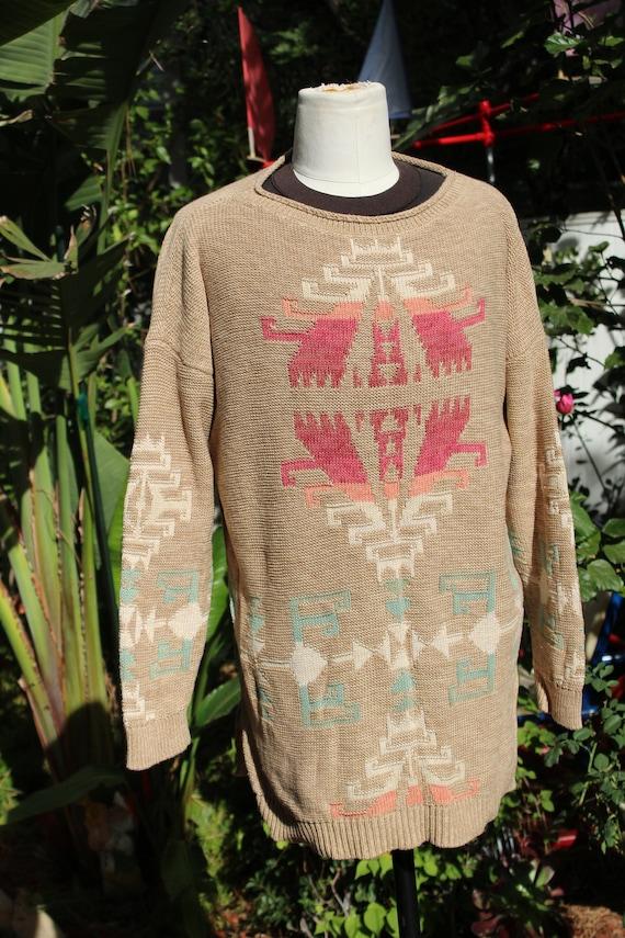 Ralph Lauren Brown Multi Color Print Pullover Swe… - image 2