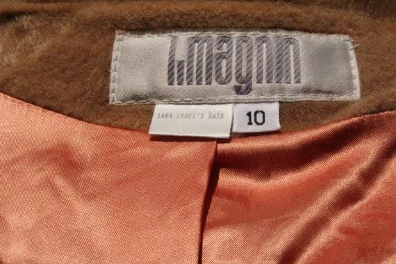 Vintage 70s I Magnin Tan Brown Camel Hair Peacoat… - image 8