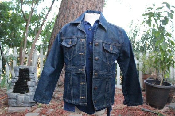 RARE Kids 70s Blue Denim Western Jacket 7-8 (Vinta