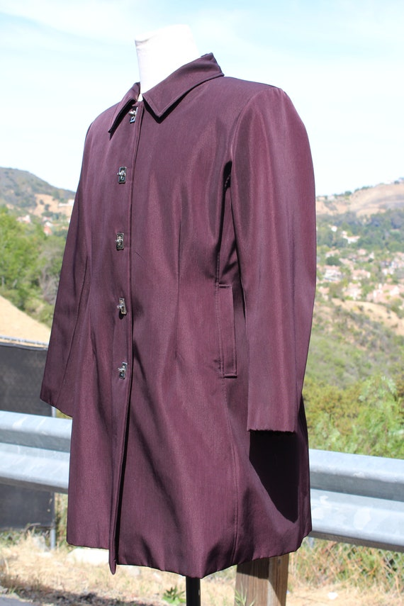 Unique Claspped Dark Red Blade Runner Overcoat Ra… - image 3