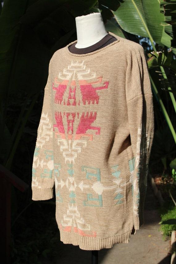 Ralph Lauren Brown Multi Color Print Pullover Swe… - image 3