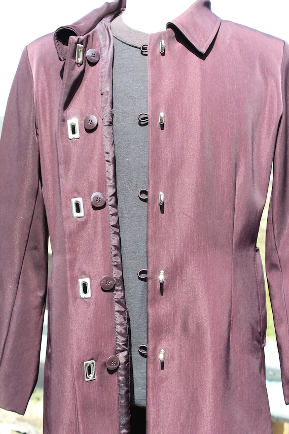 Unique Claspped Dark Red Blade Runner Overcoat Ra… - image 7