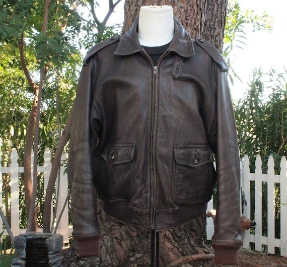 Leder Jacke Nordstrom Bomber Jahre 46rvintage 80er Braun Vintage Northwear tsrChQdx