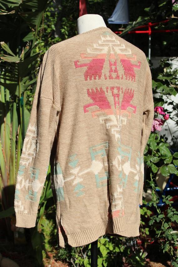 Ralph Lauren Brown Multi Color Print Pullover Swe… - image 4