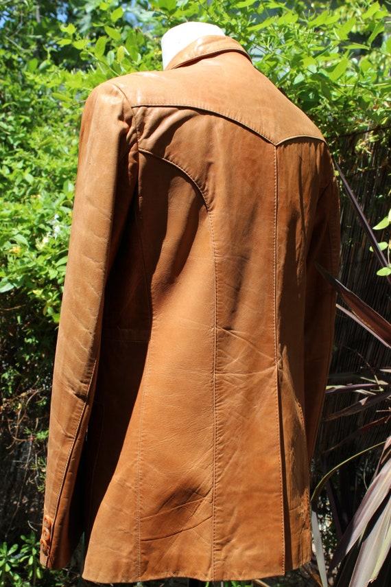 Vintage Wilson's Leather 70s Burnt Orange Brown B… - image 5