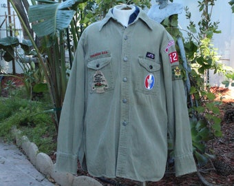 Vintage 40s Boy Scouts of America Green Shirt (Vintage / 40s / BSA)