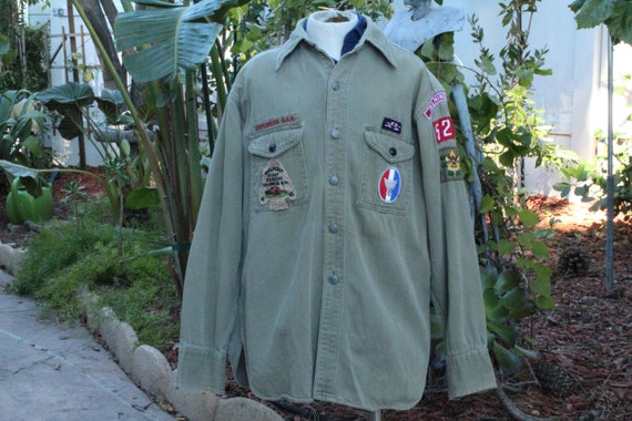 Vintage 40s Boy Scouts of America Green Shirt (Vin