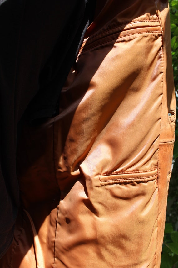Vintage Wilson's Leather 70s Burnt Orange Brown B… - image 10