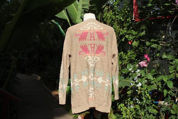 Ralph Lauren Brown Multi Color Print Pullover Swe… - image 5