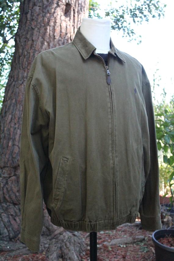Polo Ralph Lauren Green Cotton Windbreaker (Vinta… - image 2
