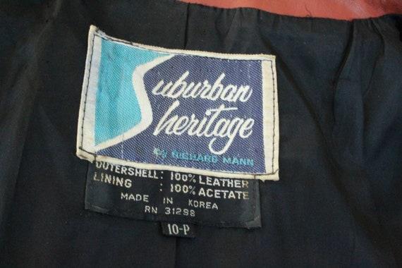 Vintage 60s Black / Red Long Leather Coat (Vintag… - image 10