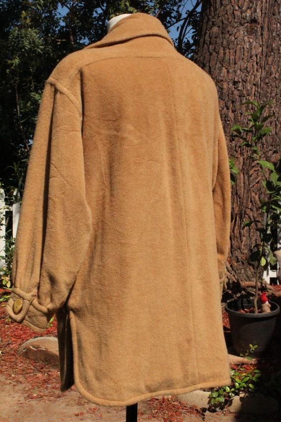 Vintage 70s I Magnin Tan Brown Camel Hair Peacoat… - image 4
