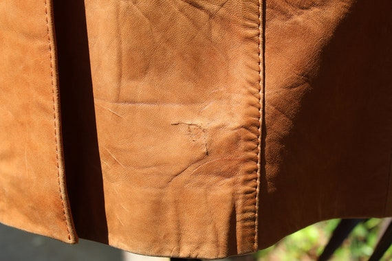 Vintage Wilson's Leather 70s Burnt Orange Brown B… - image 8