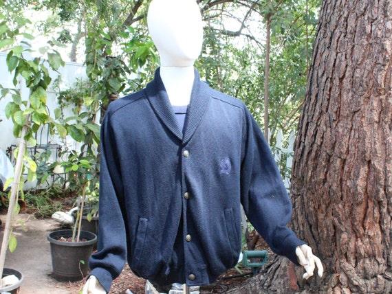 Vintage Blue Cowl Neck McGregor Cardigan Sweater C