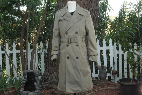 Vintage Military 36R Overcoat w/ Satin Liner (Vint