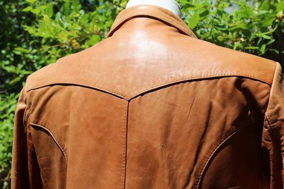 Vintage Wilson's Leather 70s Burnt Orange Brown B… - image 9