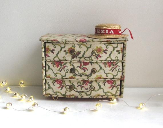 Schmuck Box Vintage Kommode Karton Schmuckkästchen Etsy