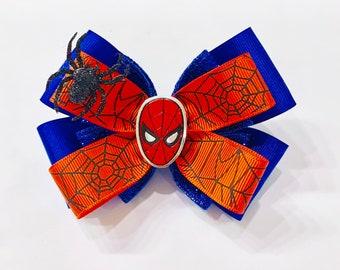ebd1906f5747 Spiderman hair bow | Etsy