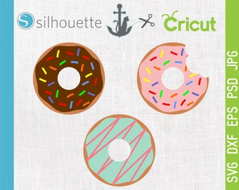 Sprinkle Donut Doughnut svg, eps, png, dxf, Donut, Donut Cut file, Donut cutting file, Silhouette Cricut Vinyl Design, Commercial use ok