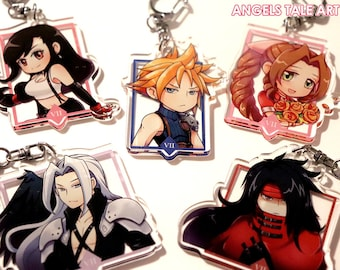 Final Fantasy VII - 2.5 in Cute Anime Acrylic Charms