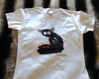 Women's T-shirt with lemur