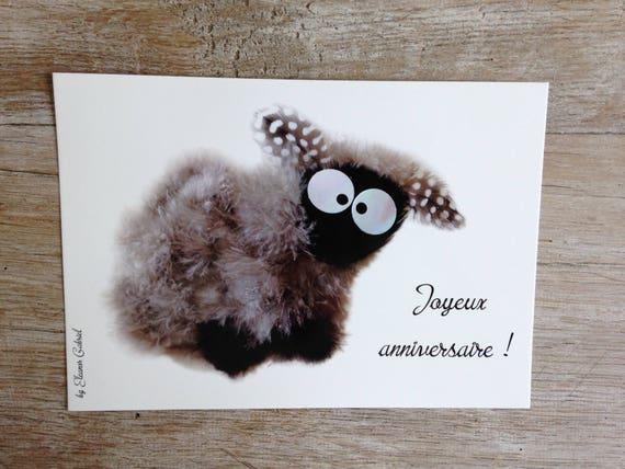 Mailing Verjaardag Kaart Groot Formaat Met Zwarte Kop Schaap Etsy