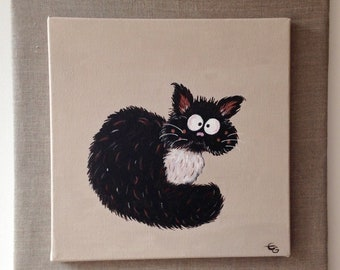 Painting painting of the Zen Cat