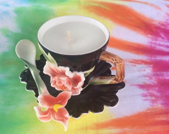 Cup & Saucer Candle - Creamy Coconut Double Fragrance
