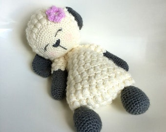 Crochet Lamb PDF Instant Downloadable Pattern Sleepy