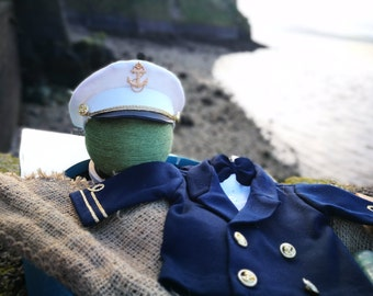 RTS Newborn Captain's suit 4 pieces. Newborn Photography Prop. Navy suit. Handmade clothes for Newborn Photography. Photography Prop