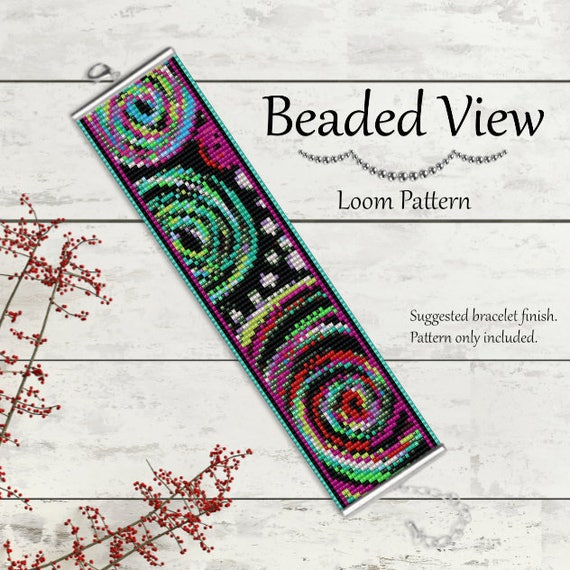 Bead Loom Pattern Loom Bead Pattern Loom Bracelet Pattern Etsy Delectable Bead Loom Patterns For Beginners