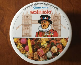 Jamesons candy tin, Westminster, London, England