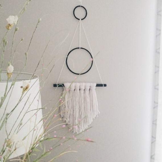 Boho Wall Decor Yarn Wall Hanging Modern Home Decor | Etsy