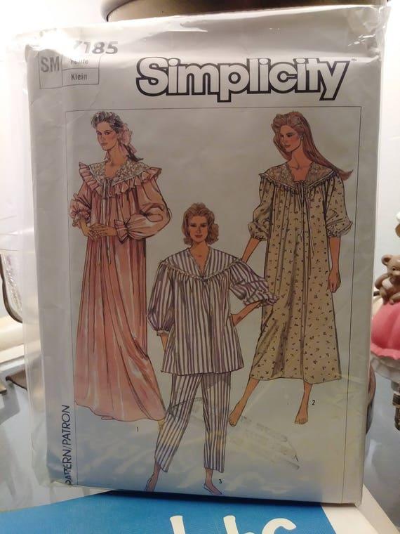 Vintage Einfachheit Nachthemd Schlafanzug Muster 7185-Misses | Etsy