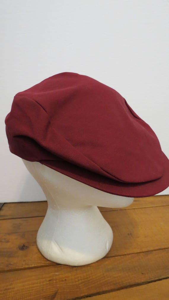 4942b9f8bf1 Newsboy Pageboy Cabbie Cap Hat Maroon Burgundy One Size Fits