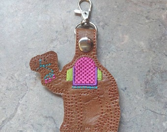 Camel Keychain - Embroidered - Travel Inspired - Camel Lover e71ba48cc