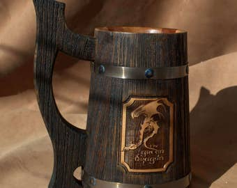 Personalized Wooden Beer Mug By Woodenmugstudio On Etsy