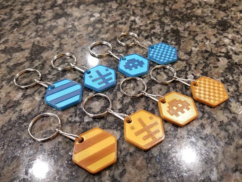 Killer Queen Arcade Keychains, Magnets, Zipper Pulls