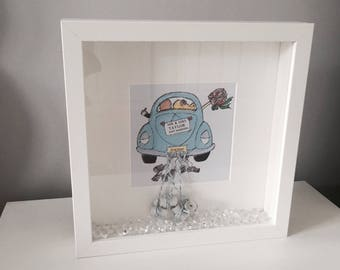 7f4dc7e6f Personalised  Just Married  Print with Frame