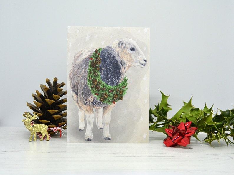 A6 Greetings Card Fox Donkey Sheep Farming Wildlife Watercolour Illustration Set of 6 Animal Christmas Cards Xmas Cards Festive Gift