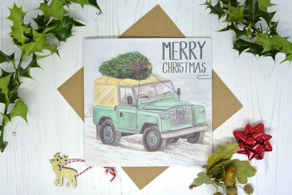 Land Rover Series III Blank Birthday Fathers Day Card