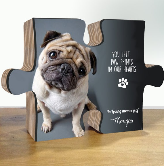 Personalised HANDMADE Wedding HEART Party bag PUG DOG Kraft effect Stickers 924
